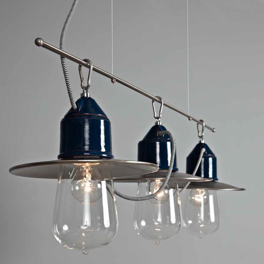 Lustre Suspension Industriel Lampe Suspension Blanche