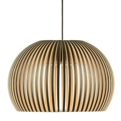 luminaire suspension bois