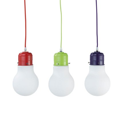suspension en forme d ampoule