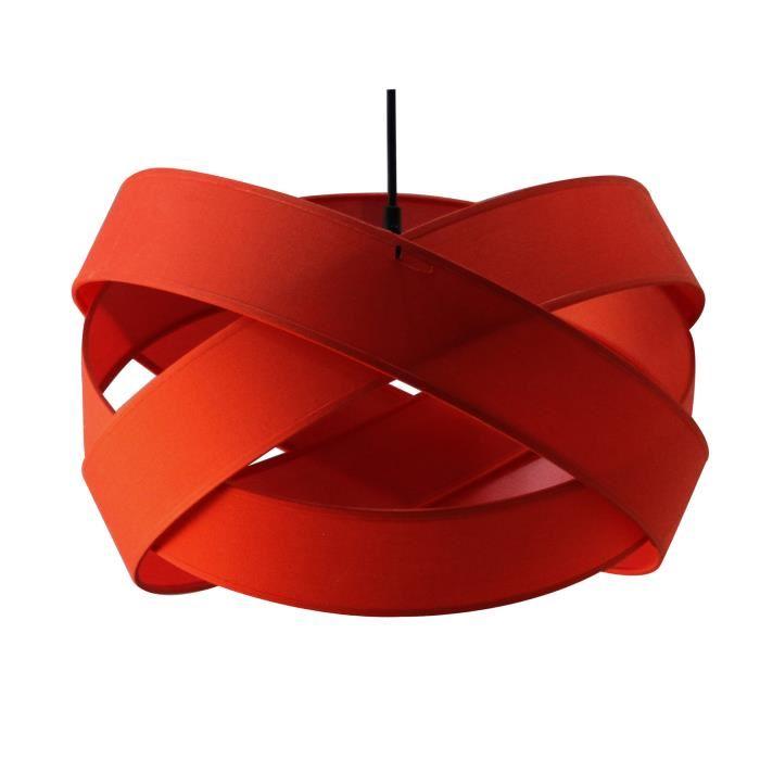 suspension luminaire rouge